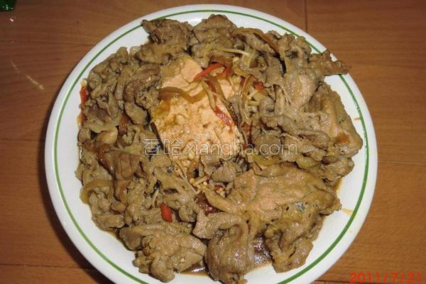 豆腐烧肉的做法