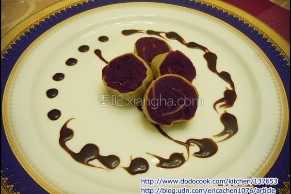紫地瓜法式薄饼卷的做法