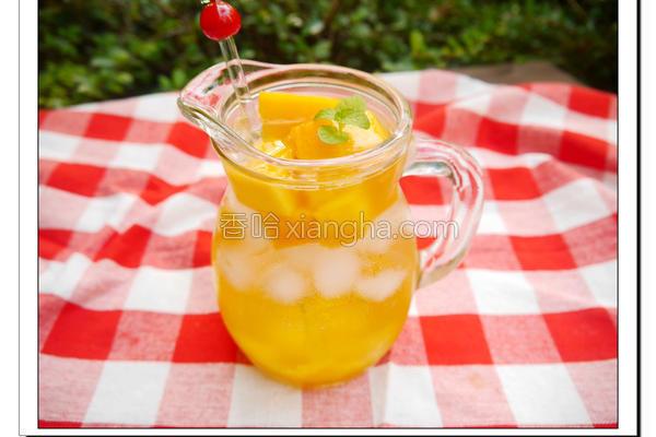 芒果气泡饮的做法