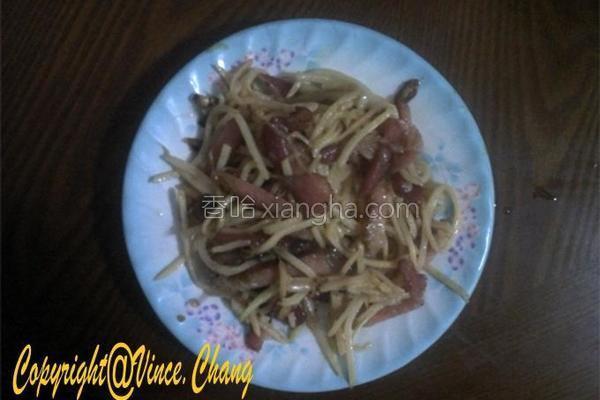 腊肉笋丝的做法