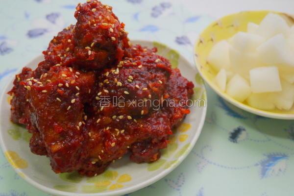 韩式辣酱炸鸡的做法