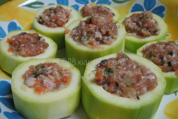 大黄瓜镶肉的做法