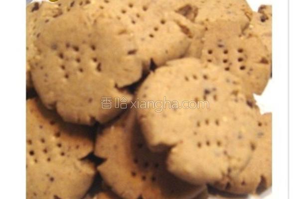 黑糖燕麦饼干的做法