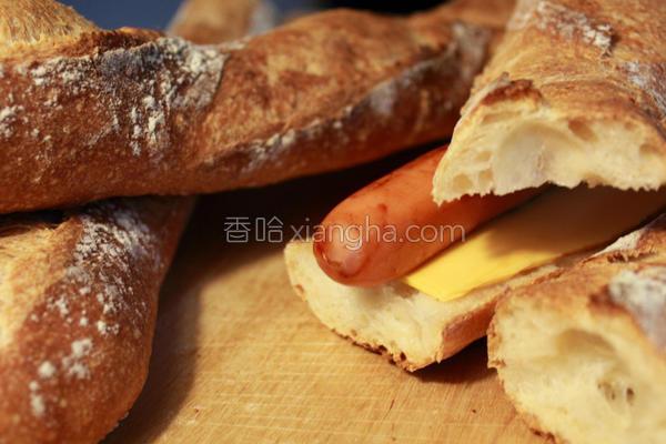 棍子面包三明治的做法