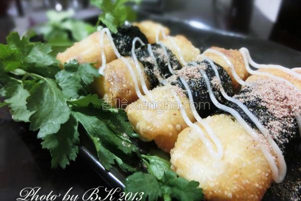 海苔虾米卷的做法