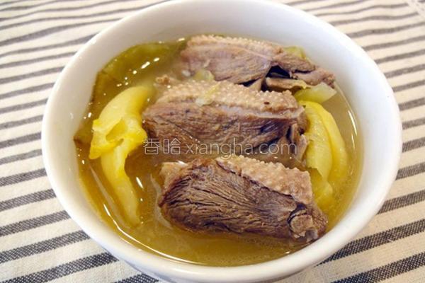酸菜鹅肉汤的做法