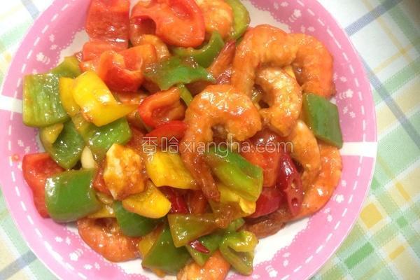 糖醋彩椒炒鲜虾的做法