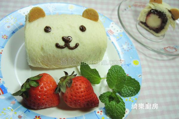 草莓红豆熊的做法