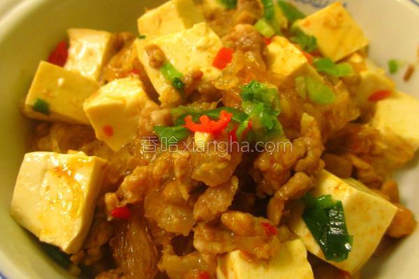 麻婆豆腐粉丝煲的做法