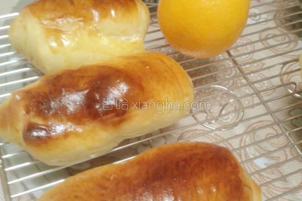 香橙芝士面包的做法