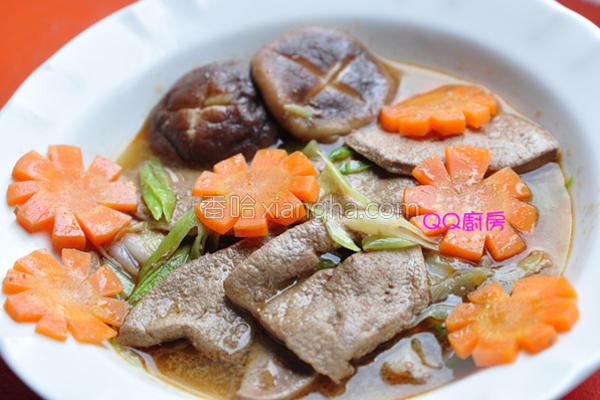 麻油炒猪肝汤的做法