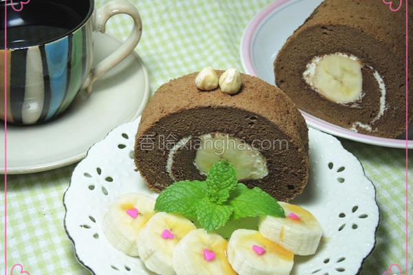香蕉巧克力蛋糕卷的做法