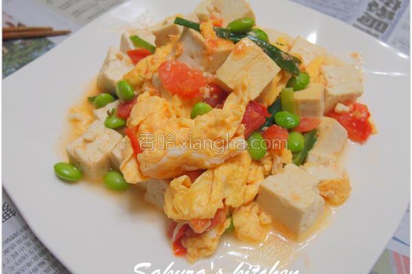 豆腐炒番茄蛋的做法