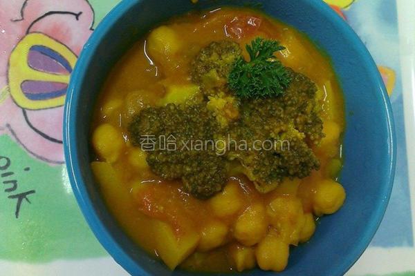 姜黄番茄鹰豆汤的做法