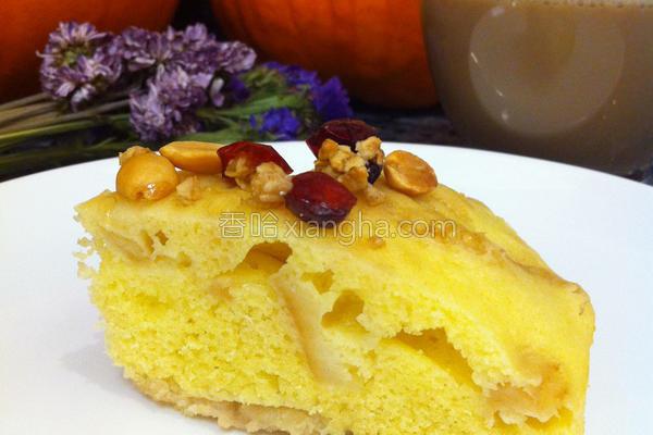枫糖苹果蒸蛋糕的做法