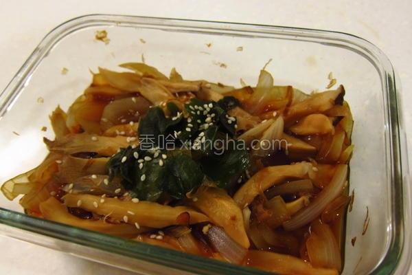 风洋葱烤杏鲍菇的做法