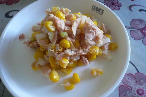 轻拌洋葱鲔鱼的做法