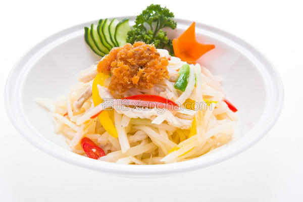 XO鲑鱼炒土豆丝的做法