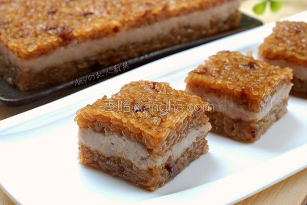 黑糖桂圆芋泥米糕的做法