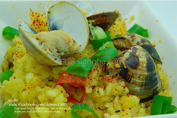 咖哩蛤蛎番茄饭的做法