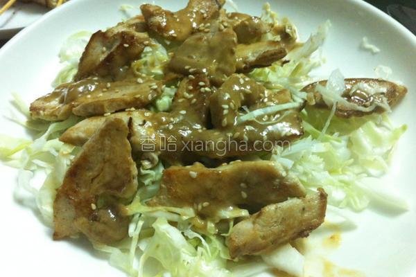 胡麻鸡肉沙拉的做法