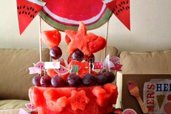 水果西瓜蛋糕的做法