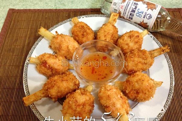 酒香甘蔗虾的做法