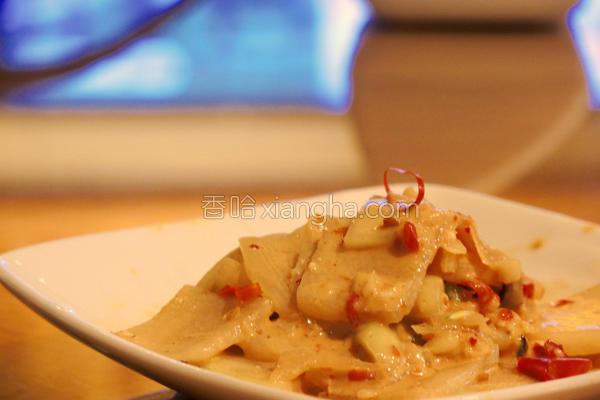 凉拌辣味大头菜的做法