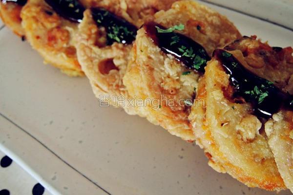 金瓜莲藕三明治的做法