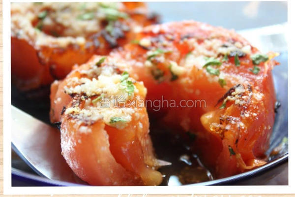 香煎爆汁番茄排的做法