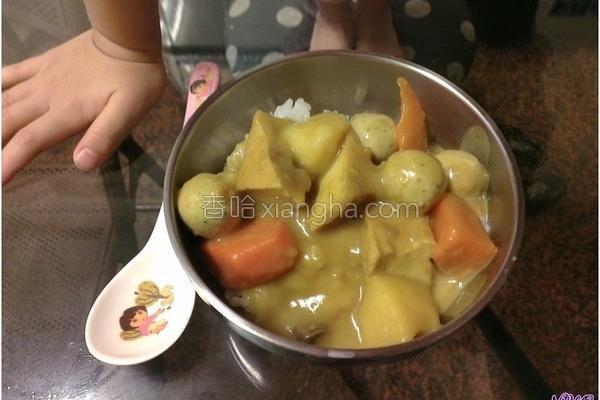 咖哩烩饭的做法