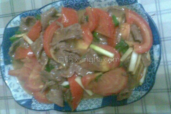 番茄炒牛肉的做法
