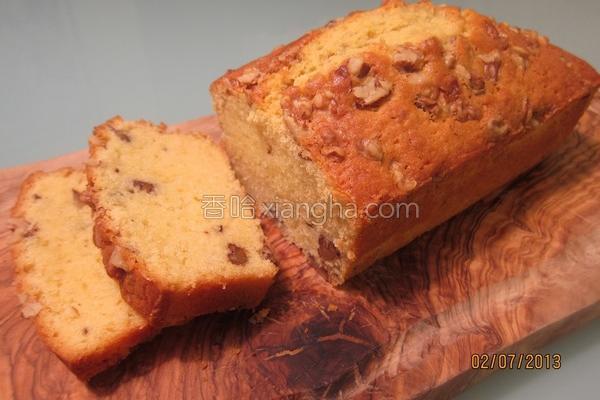 奶油核桃磅蛋糕的做法