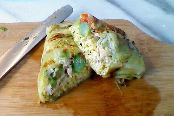 小米鸡肉高丽菜卷的做法