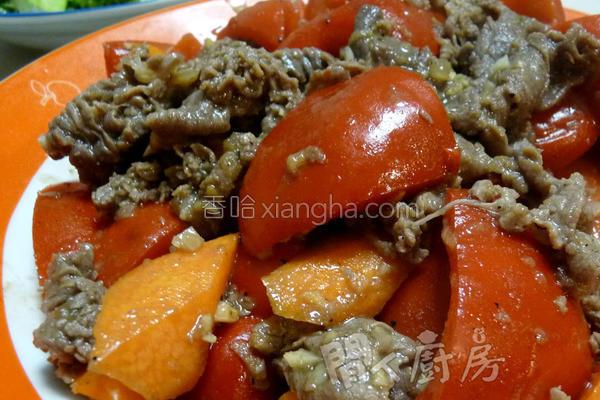 肥牛炒红椒的做法
