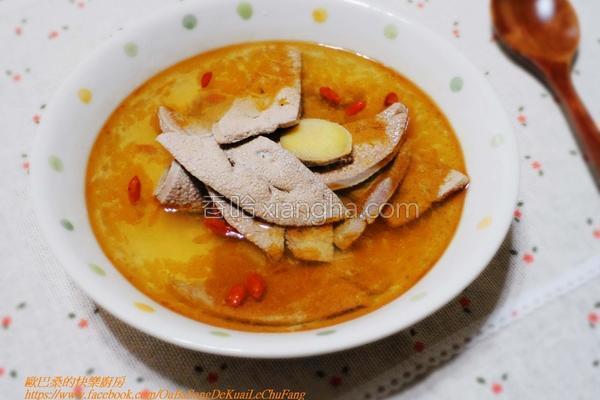 麻油猪肝汤的做法