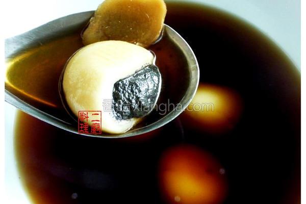黑糖姜汁芝麻汤圆的做法