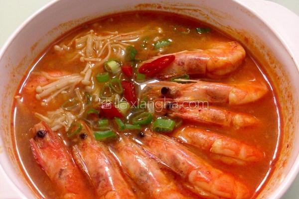 金针菇豆辫虾材料的做法