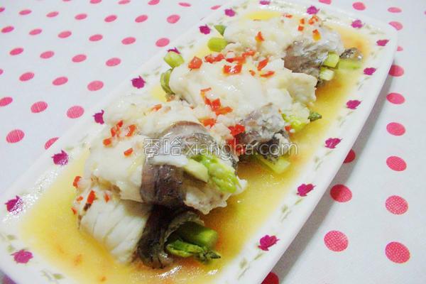 清蒸海鲈鱼芦笋卷的做法
