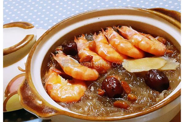 麻油虾冬粉煲的做法