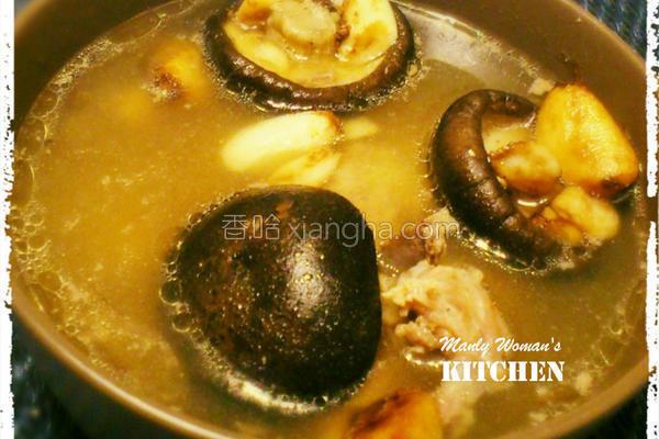 香菇大蒜鸡汤的做法