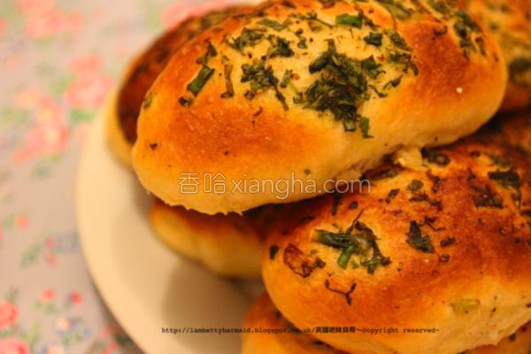 青葱面包的做法