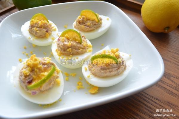 开胃小菜鲭鱼镶蛋的做法