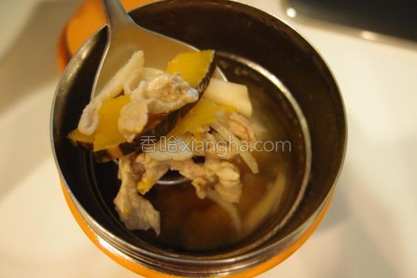 南瓜绞肉汤的做法