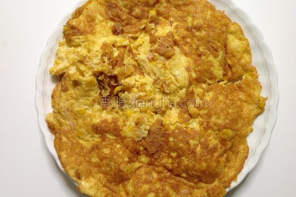 虾仁玉米烘蛋的做法
