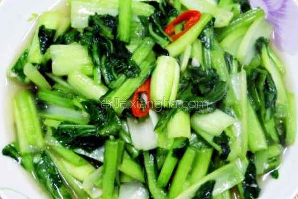厚生厨房清炒油菜的做法