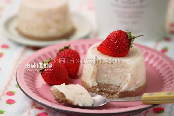 爱恋草莓牛奶布丁的做法