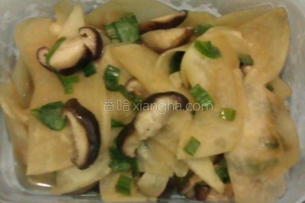 香菇大头菜的做法