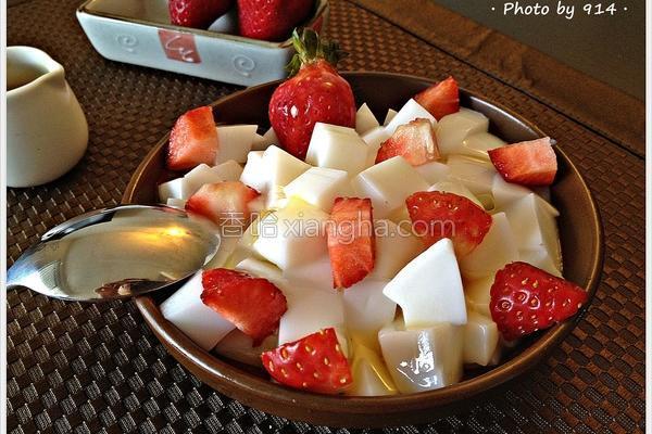 草莓杏仁豆腐的做法