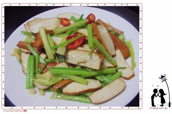 芹菜炒五香豆干的做法
